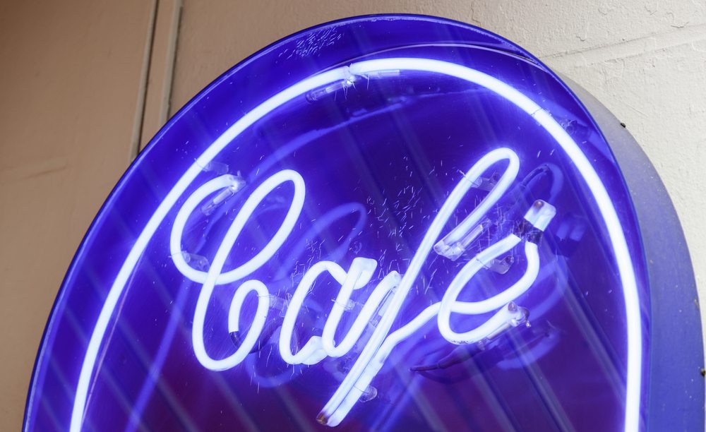 Illuminated Café Sign